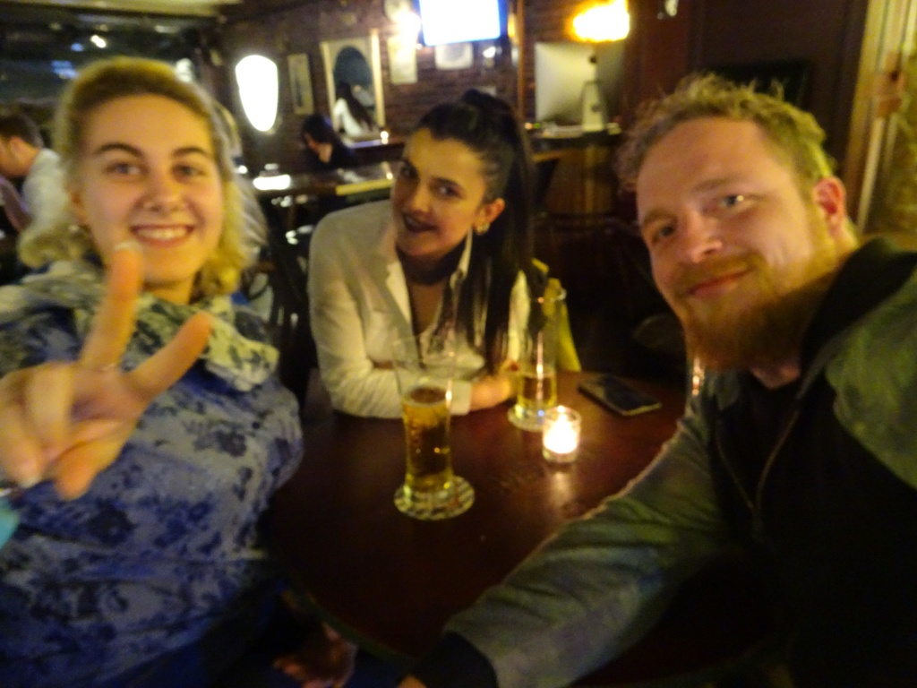 Some beers with Ecem and her friend