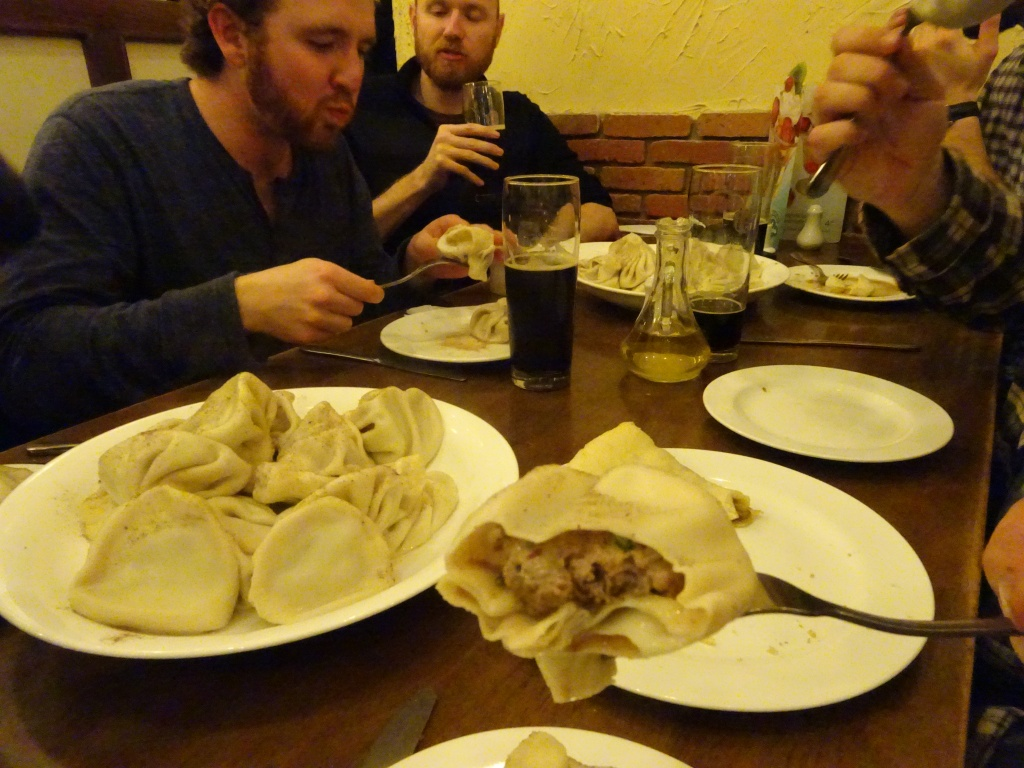 Huge dumplings with the peace corps