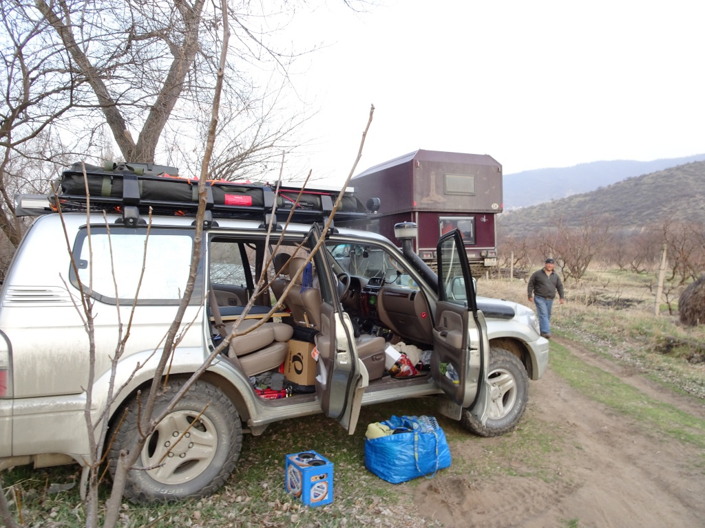 Camping just over the border of Armenia
