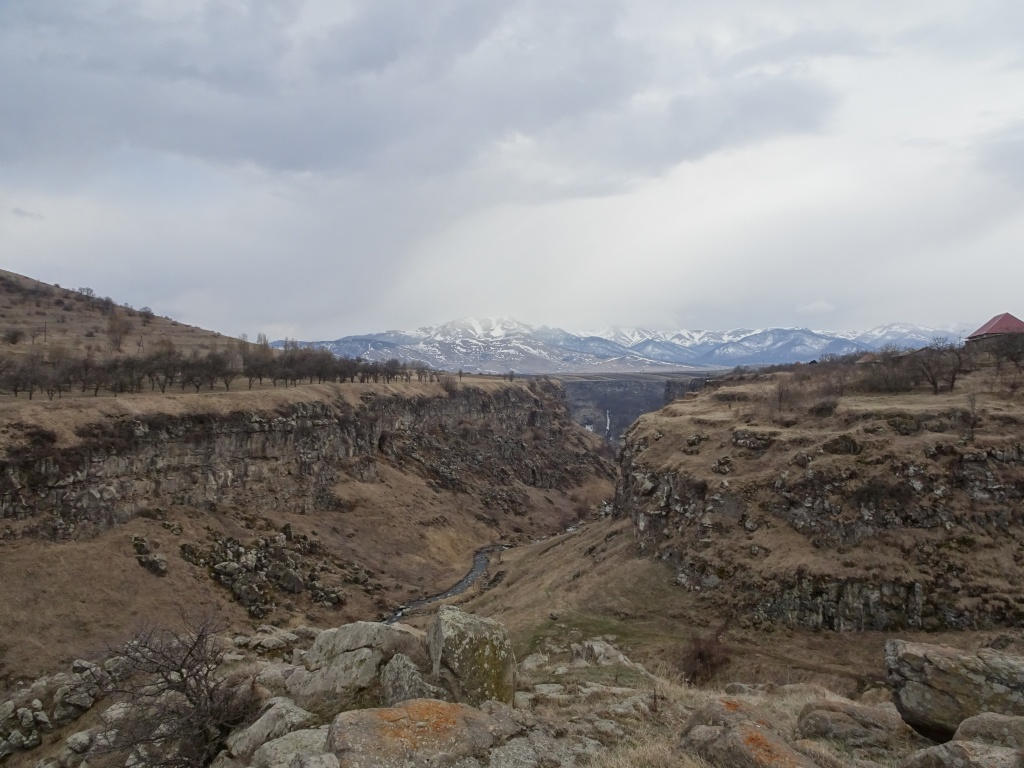 Gorge north of lake Sevan