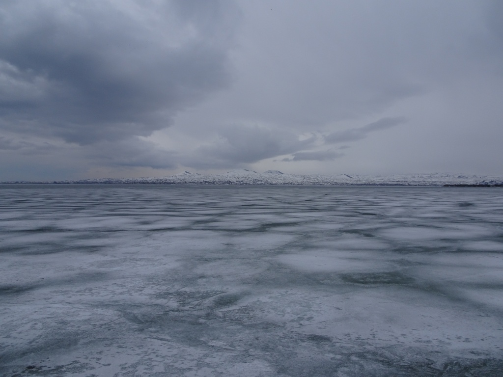 Sevan lake was frozen