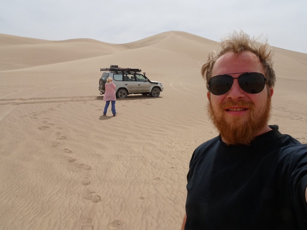 Driving in the sand dunes